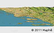 Satellite Panoramic Map of Split-Dalmatija