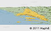 Savanna Style Panoramic Map of Split-Dalmatija