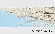 Shaded Relief Panoramic Map of Split-Dalmatija