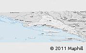 Silver Style Panoramic Map of Split-Dalmatija