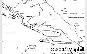 Blank Simple Map of Split-Dalmatija