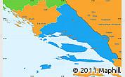 Political Simple Map of Split-Dalmatija