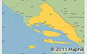 Savanna Style Simple Map of Split-Dalmatija