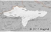 Gray 3D Map of Varazdin