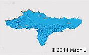 Political 3D Map of Varazdin, cropped outside