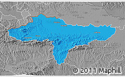 Political 3D Map of Varazdin, desaturated