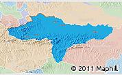 Political 3D Map of Varazdin, lighten