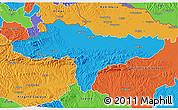 Political 3D Map of Varazdin