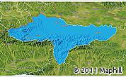Political 3D Map of Varazdin, satellite outside