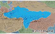 Political 3D Map of Varazdin, semi-desaturated