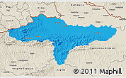 Political 3D Map of Varazdin, shaded relief outside
