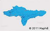 Political 3D Map of Varazdin, single color outside