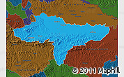 Political Map of Varazdin, darken