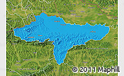 Political Map of Varazdin, satellite outside