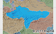 Political Map of Varazdin, semi-desaturated
