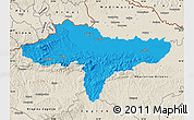 Political Map of Varazdin, shaded relief outside