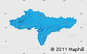 Political Map of Varazdin, single color outside