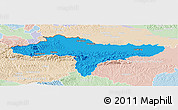 Political Panoramic Map of Varazdin, lighten