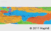 Political Panoramic Map of Varazdin