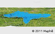 Political Panoramic Map of Varazdin, satellite outside