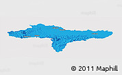 Political Panoramic Map of Varazdin, single color outside