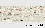 Shaded Relief Panoramic Map of Varazdin
