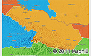 Political 3D Map of Virovitica-Podravina