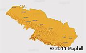 Political 3D Map of Virovitica-Podravina, single color outside