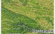 Satellite 3D Map of Virovitica-Podravina
