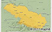 Savanna Style 3D Map of Virovitica-Podravina