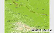Physical Map of Virovitica-Podravina