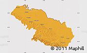 Political Map of Virovitica-Podravina, cropped outside