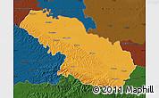 Political Map of Virovitica-Podravina, darken