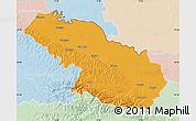 Political Map of Virovitica-Podravina, lighten