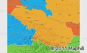 Political Map of Virovitica-Podravina
