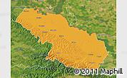 Political Map of Virovitica-Podravina, satellite outside