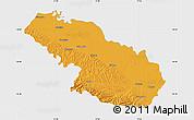 Political Map of Virovitica-Podravina, single color outside