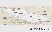 Classic Style Panoramic Map of Virovitica-Podravina