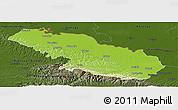 Physical Panoramic Map of Virovitica-Podravina, darken