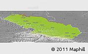 Physical Panoramic Map of Virovitica-Podravina, desaturated
