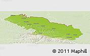 Physical Panoramic Map of Virovitica-Podravina, lighten
