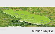 Physical Panoramic Map of Virovitica-Podravina, satellite outside