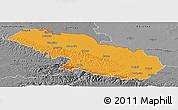 Political Panoramic Map of Virovitica-Podravina, desaturated