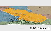 Political Panoramic Map of Virovitica-Podravina, semi-desaturated