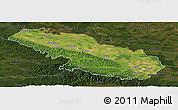 Satellite Panoramic Map of Virovitica-Podravina, darken