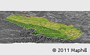 Satellite Panoramic Map of Virovitica-Podravina, desaturated
