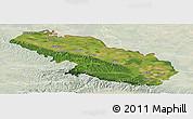 Satellite Panoramic Map of Virovitica-Podravina, lighten