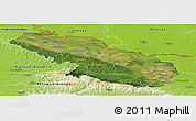 Satellite Panoramic Map of Virovitica-Podravina, physical outside
