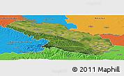 Satellite Panoramic Map of Virovitica-Podravina, political outside