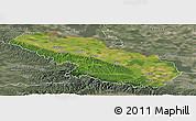 Satellite Panoramic Map of Virovitica-Podravina, semi-desaturated
